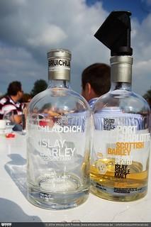 De Bruichladdich Islay Barley en de Port Charlotte Scottish Barley stonden ook op het programma.