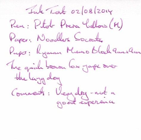 Noodler's Socrates - Ink Review - Ryman Memo
