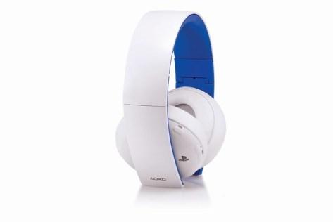 Gold Headset in Glacier White