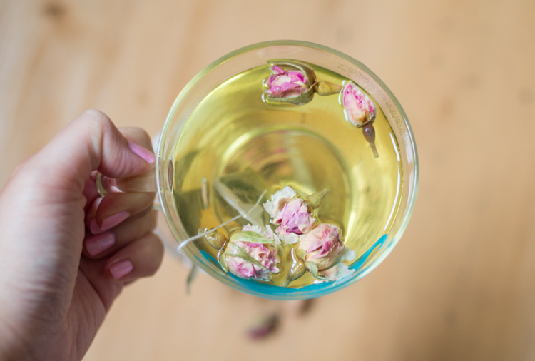 Green tea and Rose