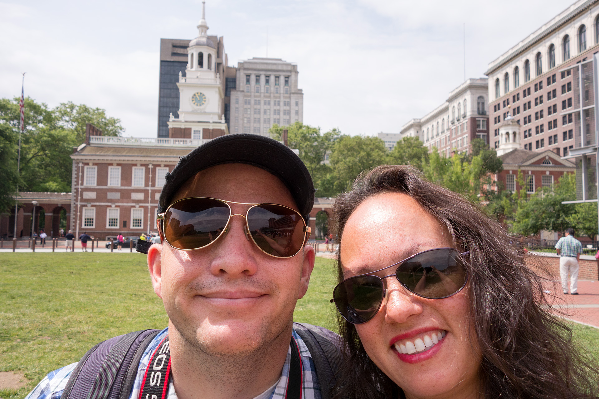 Selfie on Independence Mall.