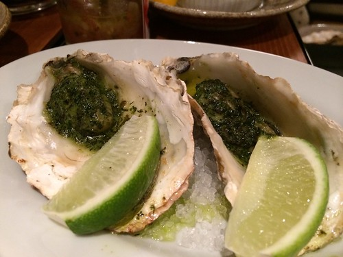 牡蠣の香草焼き@かき殻荘