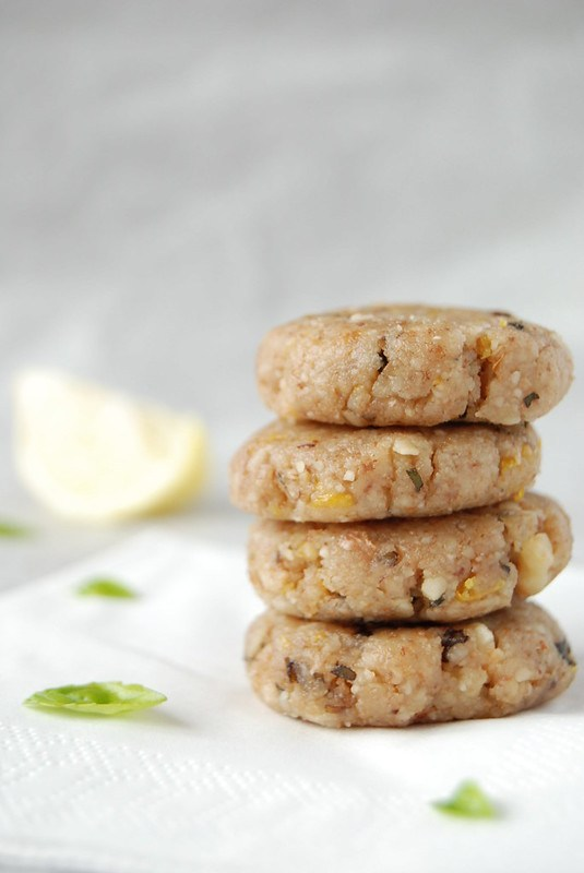 Basil Lemon Walnut Cookies