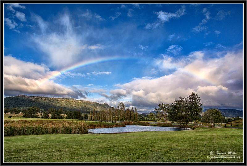 A rainbow above