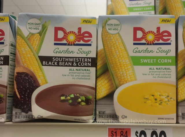 Dole Garden Soup (Southwestern Black Bean & Corn and Sweet Corn)