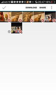 ถ้าใช้ App จะดาวน์โหลดไฟล์รูปแบบรวดเดียวเลยได้