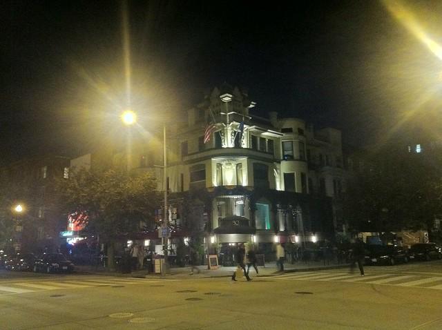 Corner at night