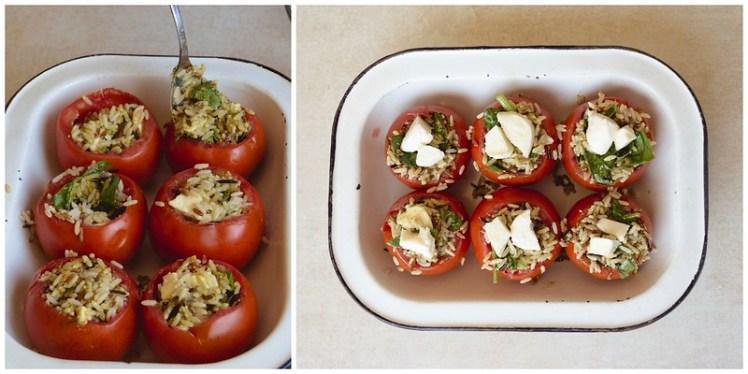 Tomates rellenos de pesto