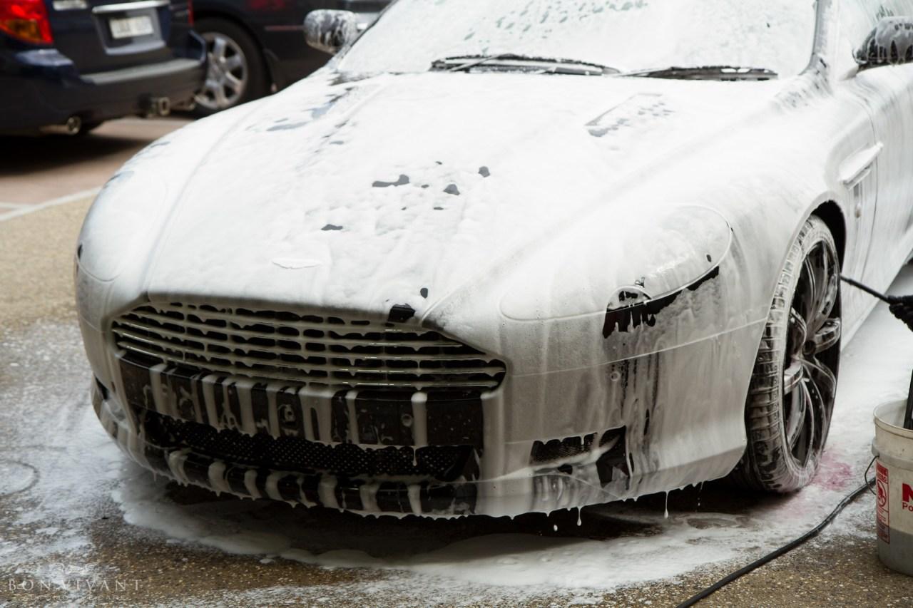Aston Martin snow foam pre-wash