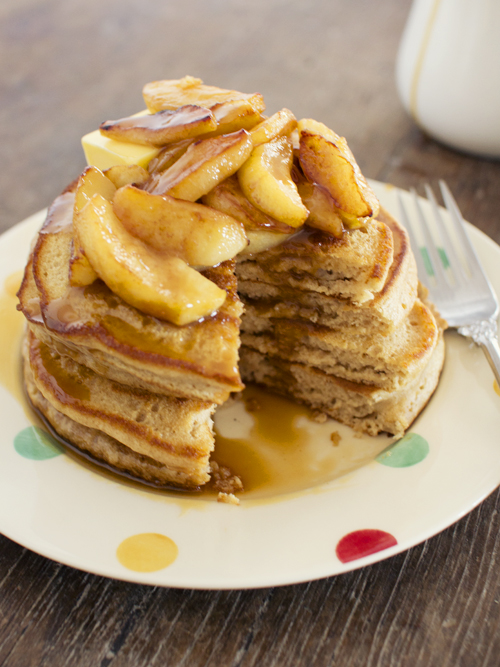 Cider Pancakes With Apples And Cider Salted Caramel