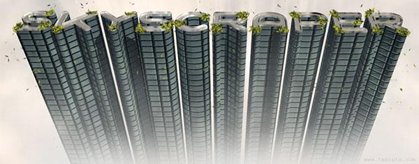 3D Skyscraper Text Effect in Photoshop CS5