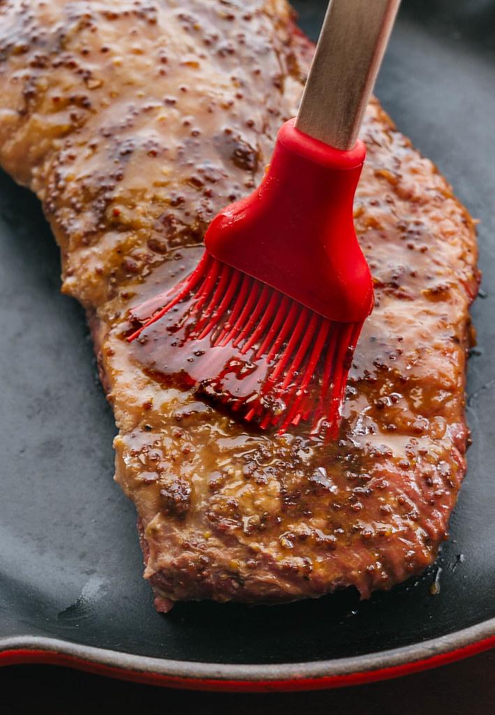 whiskey mustard glazed corned beef