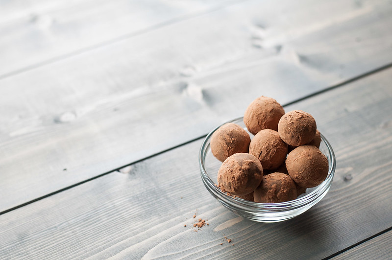 Spicy chocolate truffles accompany Tex-Mex snacks and a nacho bar for a crowd. | Full menu on the Natural Comfort Kitchen blog