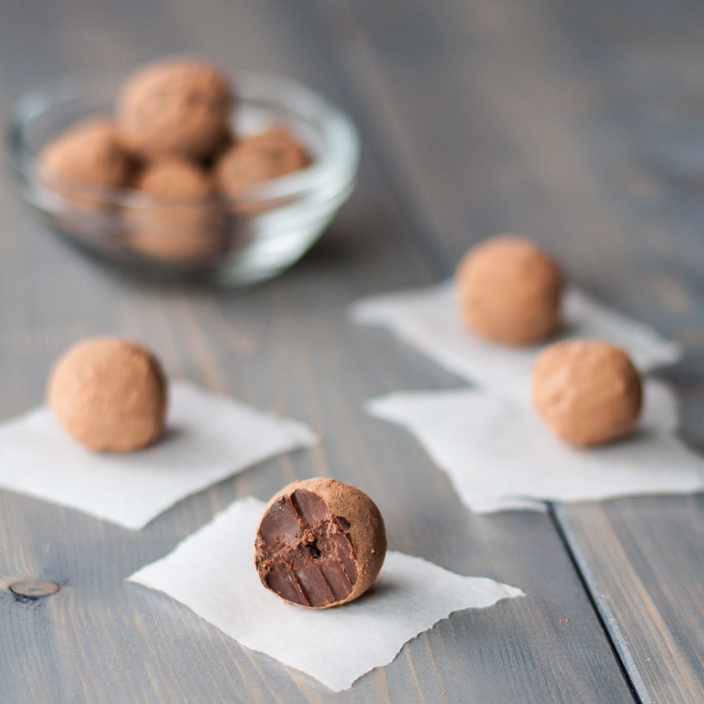 Closeup truffle bite