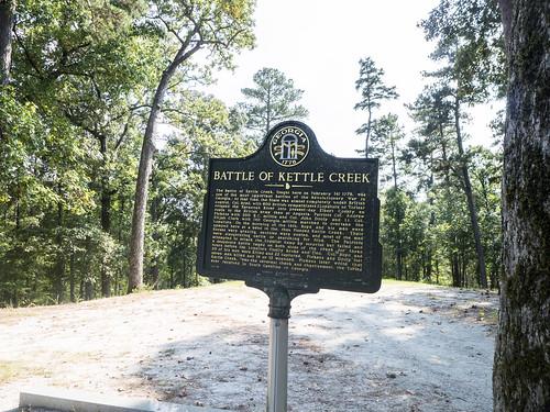 Kettle Creek Battlefield Historical Marker