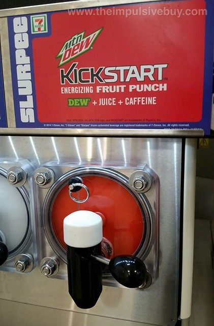 7-Eleven Mountain Dew Fruit Punch Kickstart Slurpee