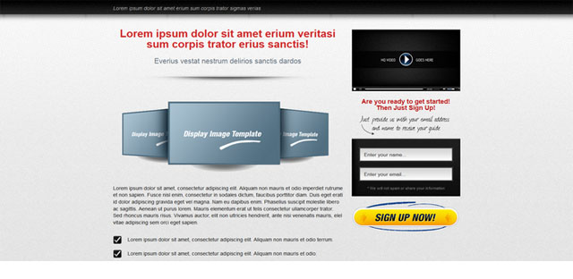 Video Squeeze Page Template 3
