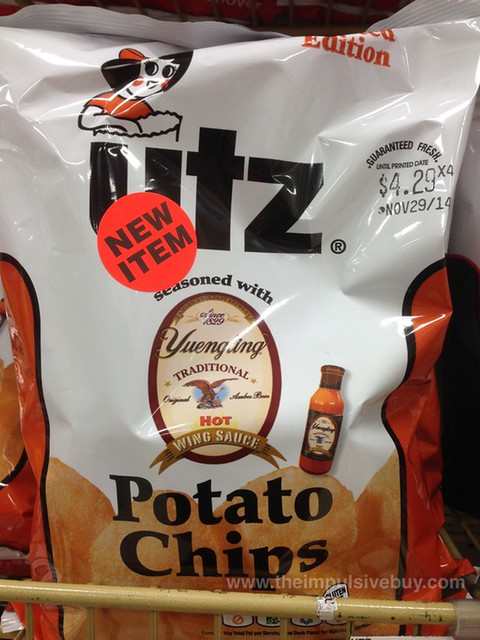 Utz Limited Edition Yuengling Hot Wing Sauce Potato Chips