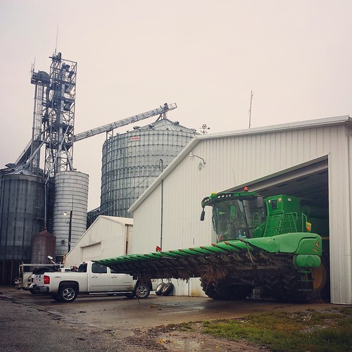 Large farming operation in Indiana