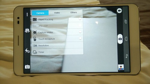 Camera app ของ Huawei MediaPad X1