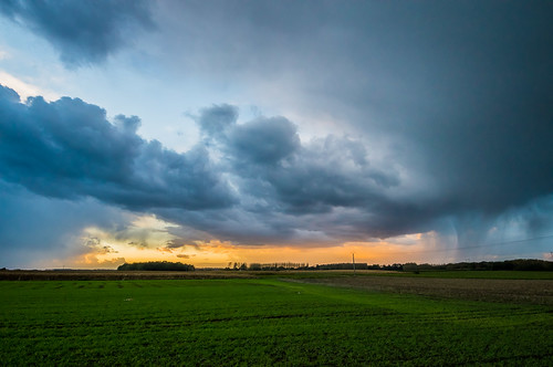 Stormy Sunset on Mons-en-Pévèle - Nord