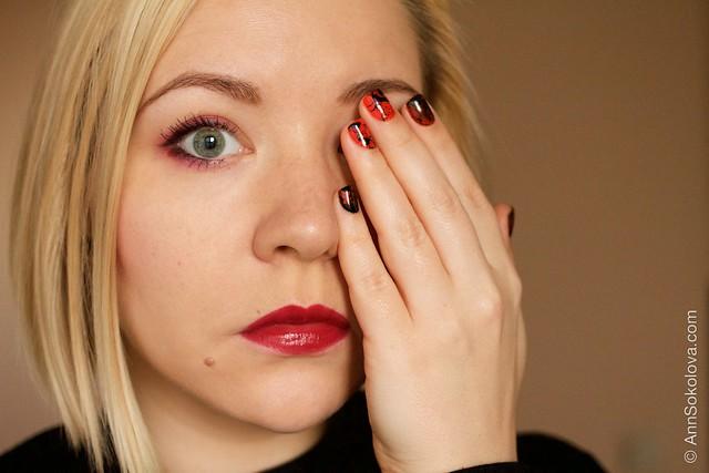 15 Morgan Taylor Halloween Collection 2014   Orange Crush swatches splatter nails Dior Rouge 977 Pied de Poule