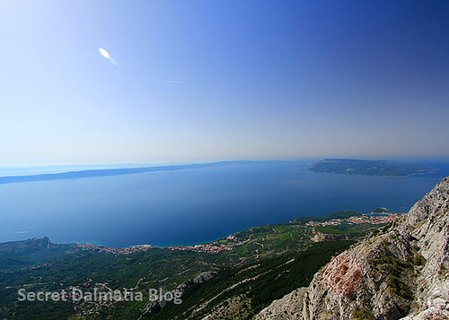 Makarska Riviera below