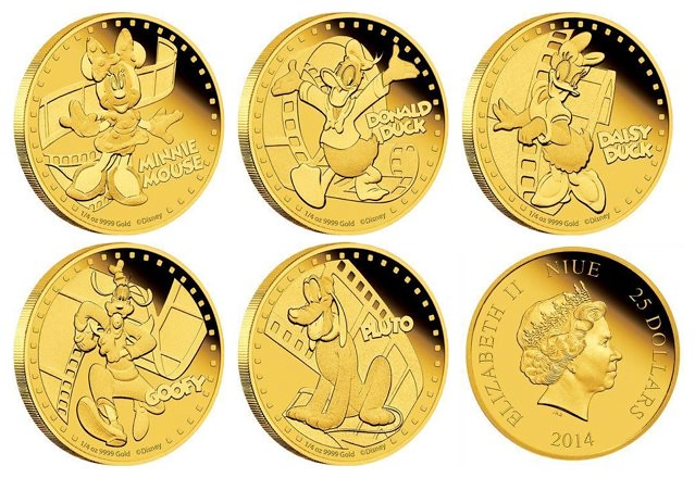 Niue Disney Gold Coins