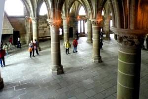 Mont Saint-Michel - salle des chevaliers