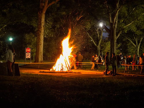 Furman Homecoming Bonfire