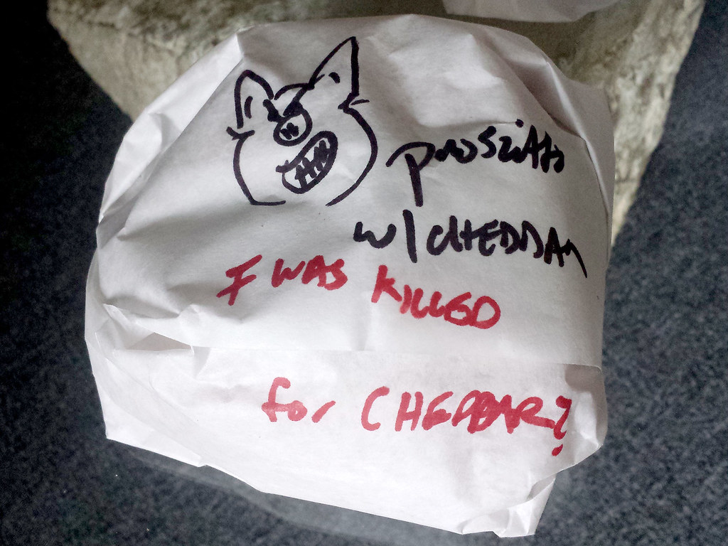The ribbing I got from the sandwich man at Rossi Rosticceria Deli.
