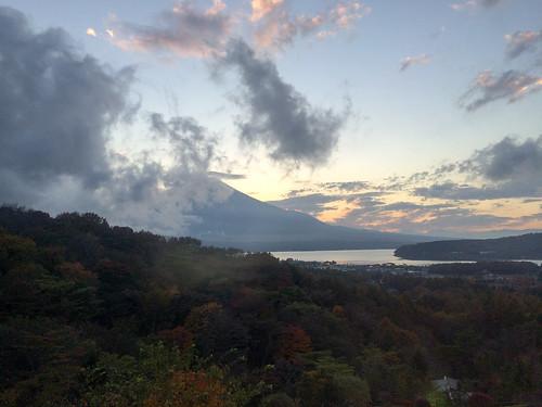 ジャグジーから見える富士山