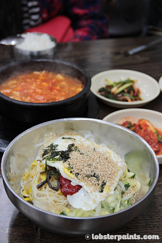 26 Sep 2014: Bibimbap at Mummy's Hands 엄마손식당 near Gwangan Beach   Busan, South Korea