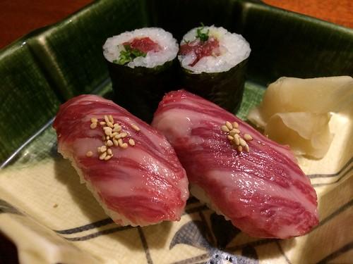 馬肉寿司@あぶみ邸