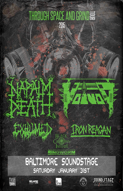 Napalm Death and Voivod at Baltimore SoundStage