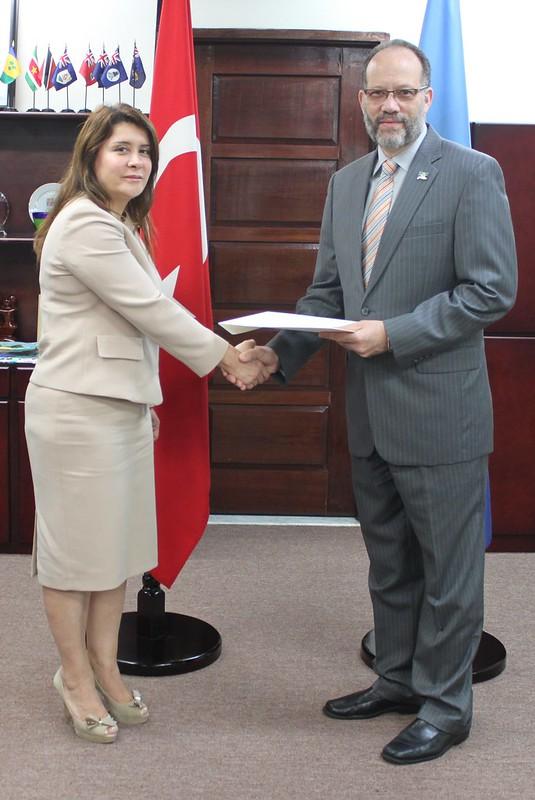 Accreditation of new Turkish envoy to CARICOM