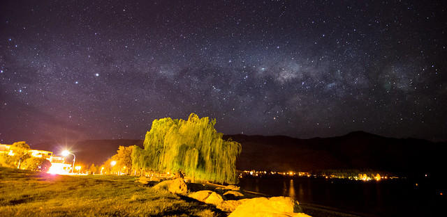 Milky way over Wanaka
