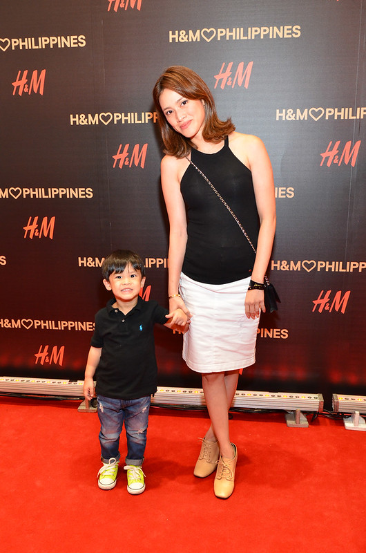 Ria Prieto with son, Dimitri