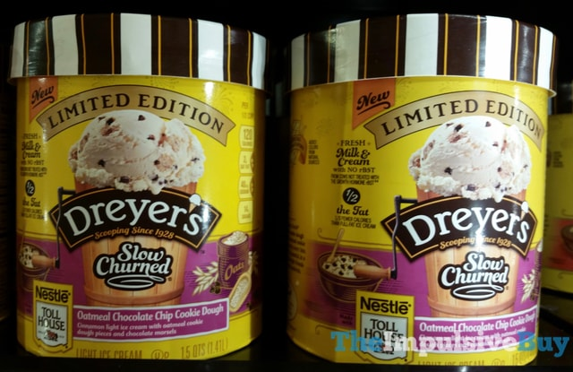 Limited Edition Dreyer's Slow Churned Nestle Toll House Oatmeal Chocolate Chip Cookie Dough Ice Cream