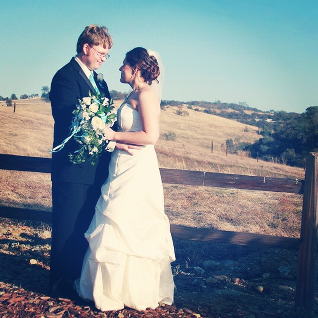 """#throwback to four years ago today when Joshua and I said, """"I do."""" Today also marks 10 years we have been together. #throwbackthursday #tbt #anniversary #wedding #marriage"""