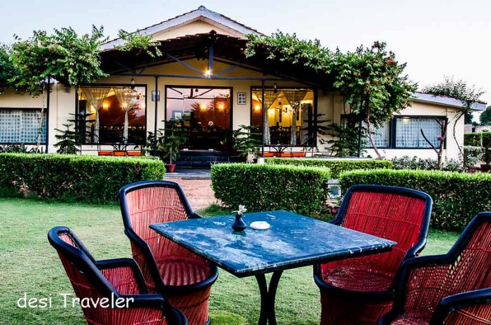 Lawns dining hall Pushkar Resorts
