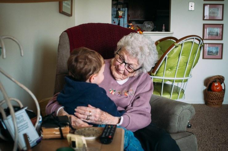 Micah and Great Grandma