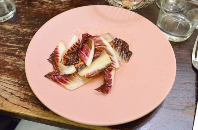 red snapper, bitter salad, fig