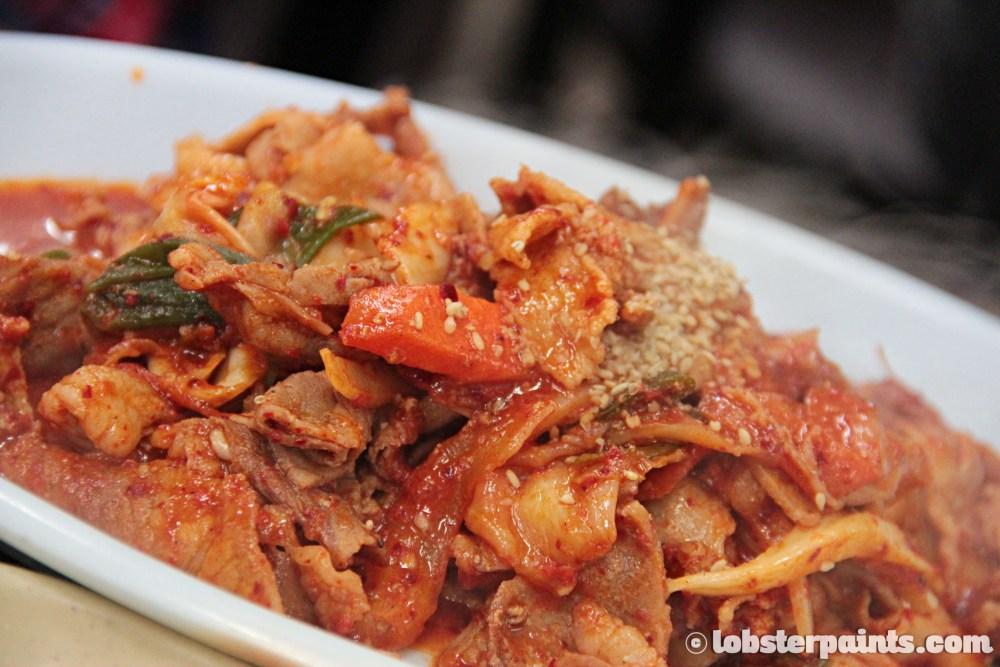 26 Sep 2014: Duruchigi 두루치기 (Stir-fried Pork) at Mummy's Hands 엄마손식당 near Gwangan Beach | Busan, South Korea