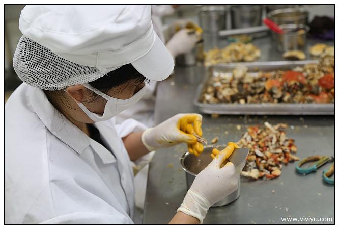 加工廠,大閘蟹,大陸,安徵,牧牛湖,蟹肉,蟹膏 @VIVIYU小世界