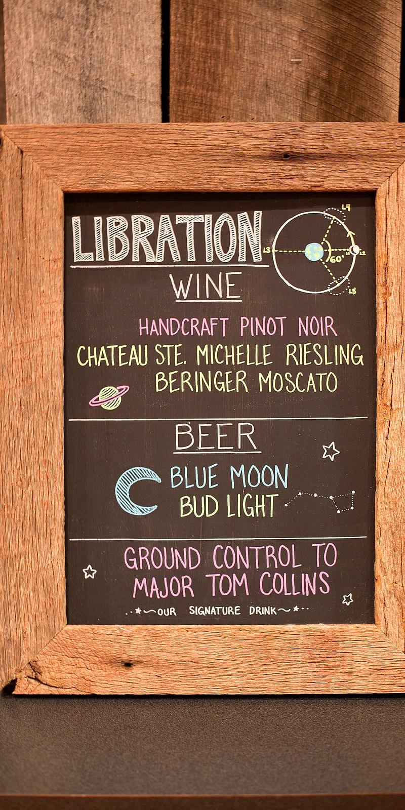 Our drink menu