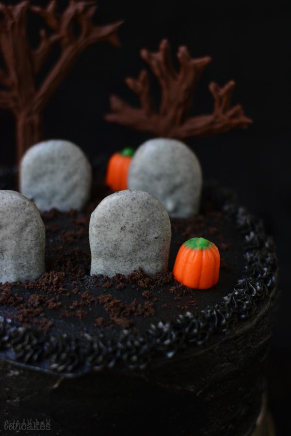 Black Magic Cemetery Cake bethcakes.com