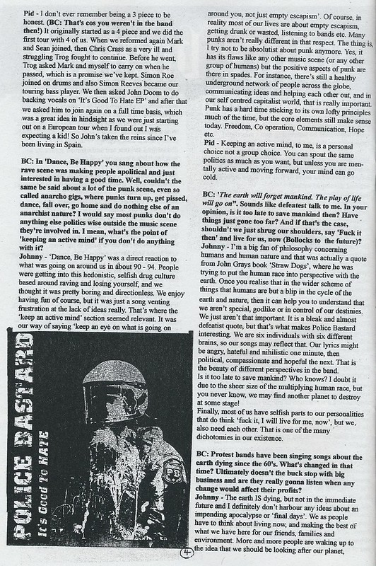 Police Bastard Interview - Bald Cactus #31 - 2014 (2)