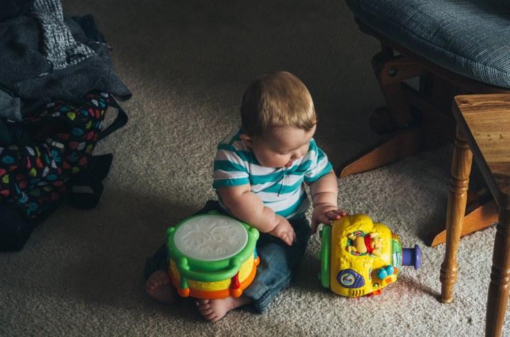 Ezra playing