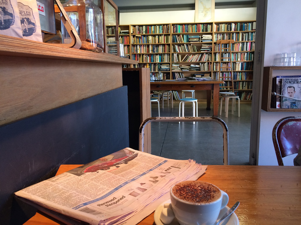 cafe + book store